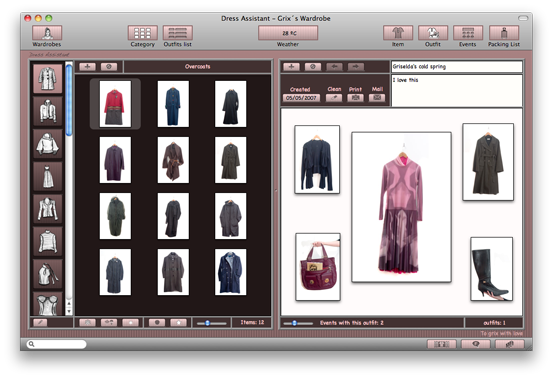 Dress Assistant By Wardrobe Organizer Software For Mac Os X